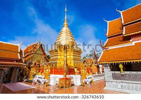 Wat Phra That Doi Suthep is a Theravada buddhist temple near Chiang Mai, Thailand Foto stock ©