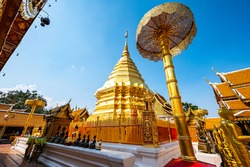 Wat Phra That Doi Suthep or Phra That Doi Suthep temple in Chiang Mai province, Thailand.