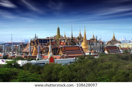 Wat pra kaew Grand palace at dustt,Bangkok Thailand