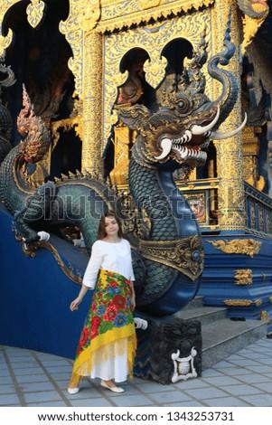 Wat Rong Suea Ten (Blue Temple) in Chiang Rai (Thailand) #1343253731