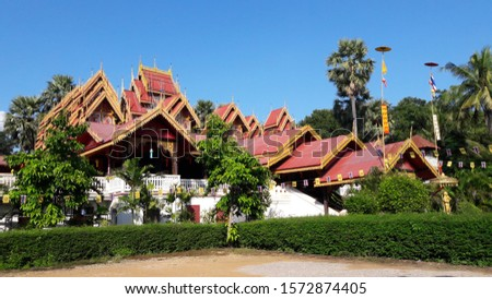 Wat Sri Long Mueng, Lumpang Buddhist Temples which are located in the northern of Thailand. Stok fotoğraf ©