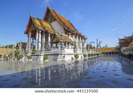Wat Suthat temple in Bangkok, Thailand, landmark, landmark, landmark bangkok, landmark Thailand #441119500