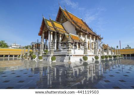 Wat Suthat temple in Bangkok, Thailand, landmark, landmark, landmark bangkok, landmark Thailand