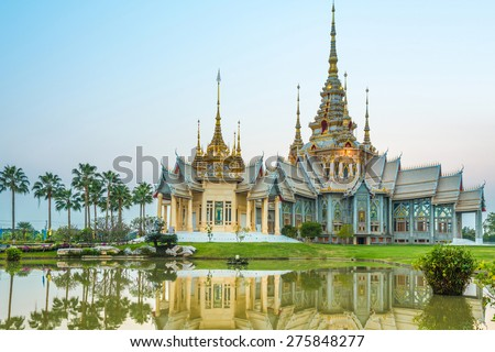 Wat thai They are public domain or treasure of Buddhism, wat thai landscape.