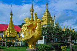 Wat Thai Wattanaram, Thai temples with Burmese architecture and Burmese art. Located in Mae Sot District, Tak Province, Thailand