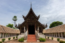 Wat Ton Kain or Ton Kain temple ( Wat Intrarawat ),Ancient temple ,a wooden chapel , Chiangmai, Thailand