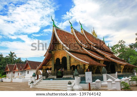 Wat Xieng Thong is one of the most important of Lao monasteries and remains a significant monument to the spirit of religion, royalty and traditional art.