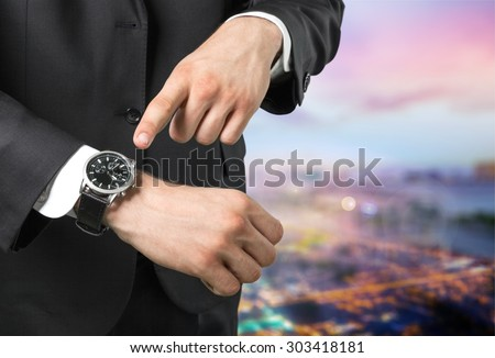 Watch, hand, time.