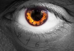 Watch in an eye as a concept of time passing for humans