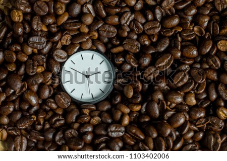 Watch in the box of coffee beans. #1103402006