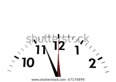 watch or clock isolated on white background showing time or business concept