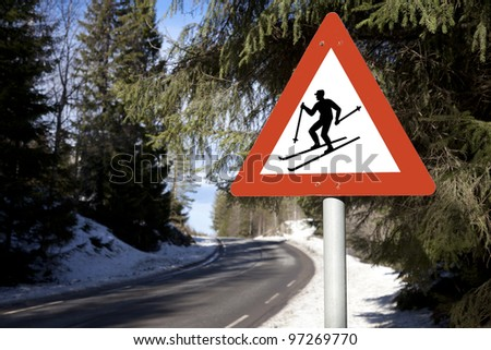 watch out for cross-skier
