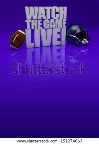 Watch the game live! - American football background with space