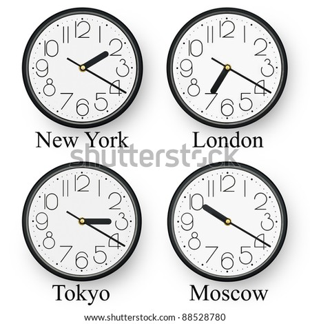 Watches in several cities of the world. - stock photo
