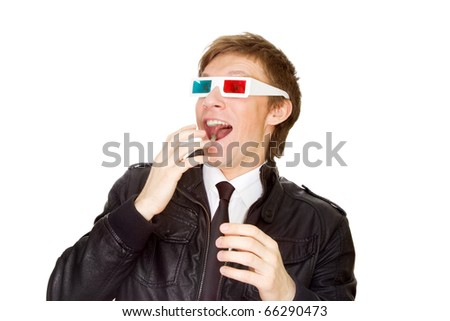 Watching 3D - stock photo