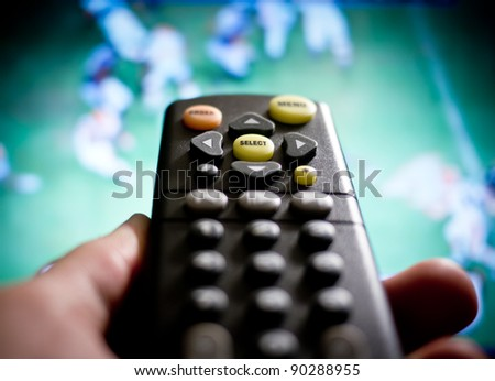 Watching football / sports on TV