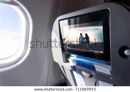 watching movie on an airplane...