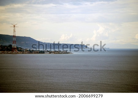 Watching Sicily from mainland. Europe, 2010. Stockfoto ©