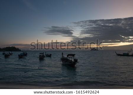 Watching sunrise on sunrise beach, Ko lipe, Thailand