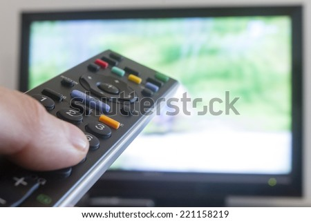 watching television, zapping