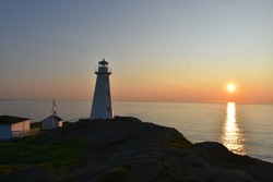 Watching the sunrise at Cape Spear Lighthouse in St. Johns, Newfoundland