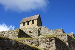 Watchmans Hut at the end of the Inca Trail, Machu Picchu, Peru