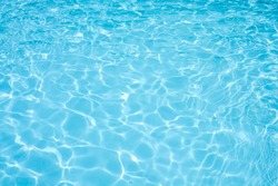 Water abstract background, Swimming pool rippled.