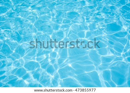Water abstract background, Swimming pool rippled. - Shutterstock ID 473855977