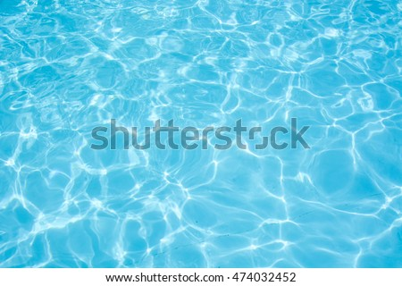 Water abstract background, Swimming pool rippled. - Shutterstock ID 474032452