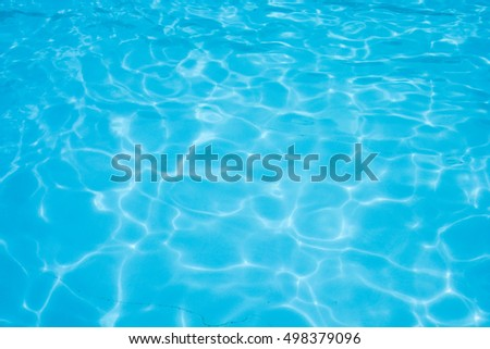 Water abstract background, Swimming pool rippled. - Shutterstock ID 498379096