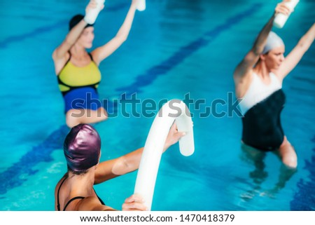 Water Aerobics Class, Indoor Swimming Pool.