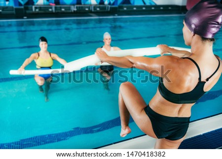 Water Aerobics Class, Indoor Swimming Pool.
