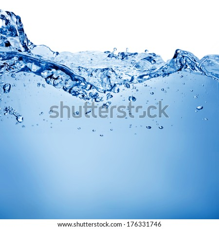Water and air bubbles over white background with space for text - Shutterstock ID 176331746