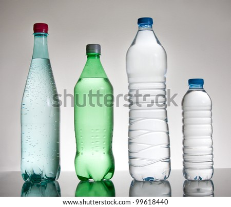 Water and sprite bottles