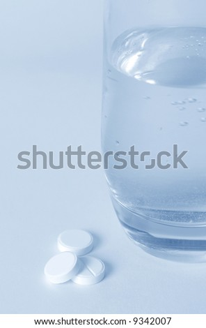 Water and Tablet