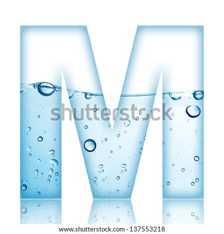 M Letter In Water Letter M