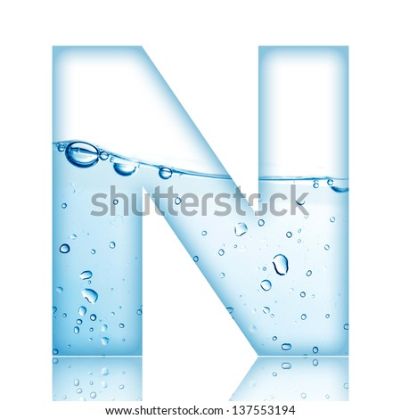 Water And Bubble Alphabet Letter N 137553194