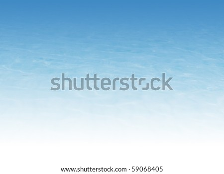 Water background illustration (bottom of image 100% white color)