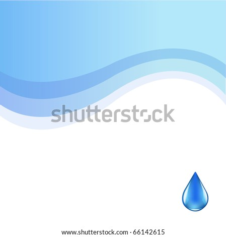 Water Background With Drop