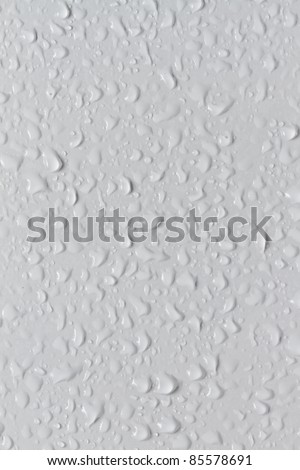 Water beaded on tile