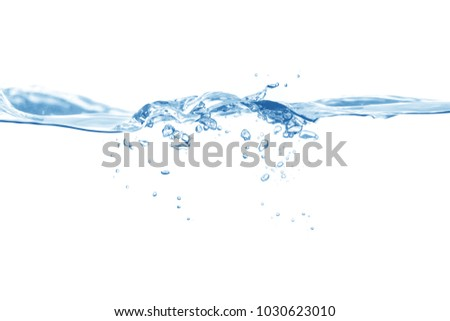 Water,blue water splash isolated on white background  #1030623010