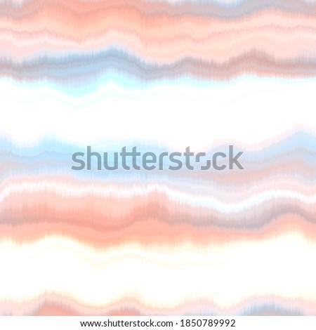 Water blur degrade texture background. Seamless liquid flow watercolor stripe effect. Distorted tie dye wash variegated fluid blend. Repeat pattern for sea, ocean, nautical maritime  backdrop