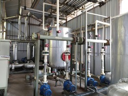 Water boiler and cold pipe line on the chiller machine industry.