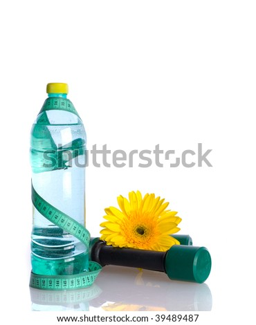 Water Bottle Diet Concept/ isolated