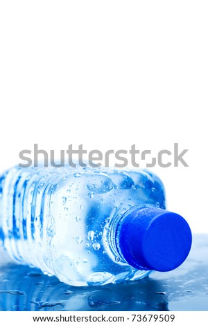 Water bottle isolated on the white background