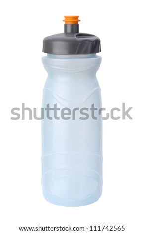 Water Bottle isolated on white with a clipping path