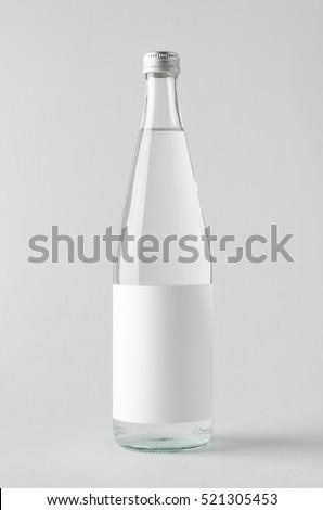 Water Bottle Mock-Up - Blank Label