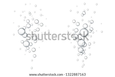 Water bubbles. Abstract Bubbles. White background with bubbles.