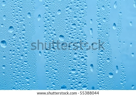 water bubbles on the window for background