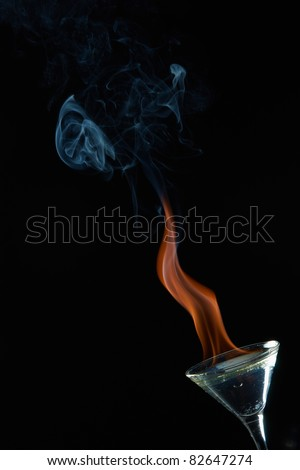 Water burn in footed tumbler - stock photo